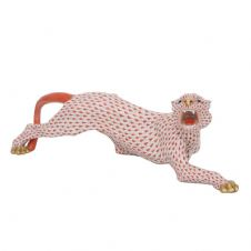 Herend Porcelain Fishnet Figurine of a Tiger